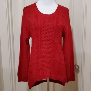 Ambiance red woven sweater perfect for Christmas